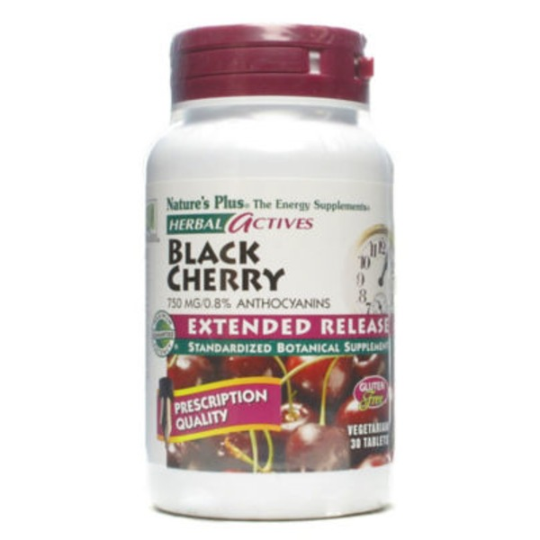 Nature's Plus Black Cherry Herbal Actives Vegetarian Tablets