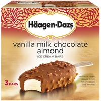 Haagen-Dazs Vanilla Milk Chocolate Almond Ice Cream Bars Multi-Pack