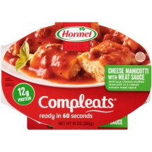 HORMEL® COMPLEATS® Cheese Manicotti with Meat Sauce 10 oz. Sleeve