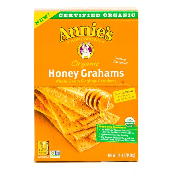 Annie's Homegrown Organic Honey Graham Cracker Bricks Graham Bricks