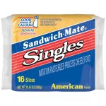 Sandwich-Mate Singles American Flavor Imitation Pasteurized Process Cheese Food, 10.67 oz, 16 count