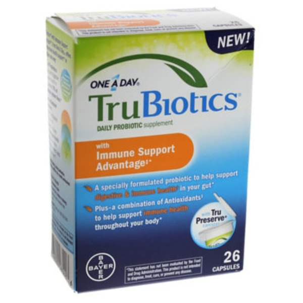 Trubiotics One A Day Daily with Immune Support Advantage Probiotic Supplement