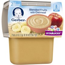 Gerber® 2nd Foods® Blended Fruits with Oatmeal, 4 oz, 2 count