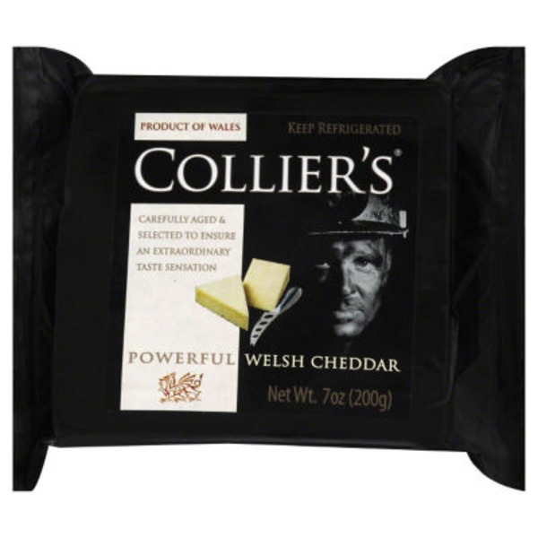 Colliers Cheese, Welsh Cheddar, Wrapper