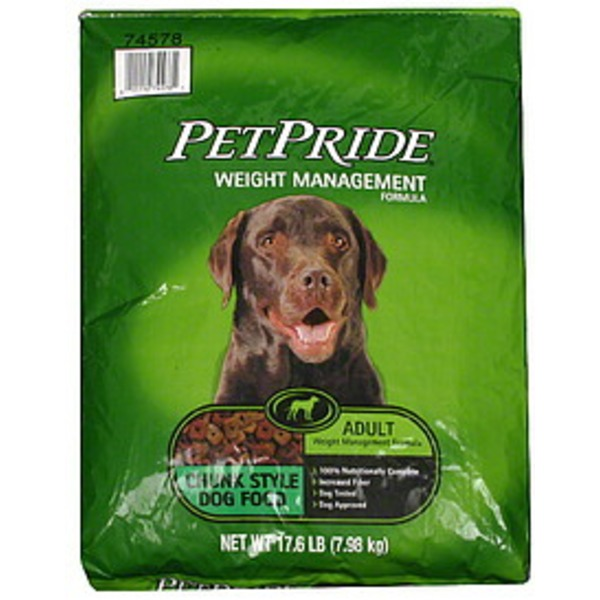 Petes Pride Weight Management Chunky Style Adult Dog Food