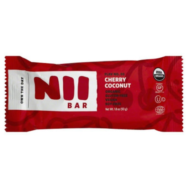 Nii Bar Bar, Cherry Coconut, Wrapper