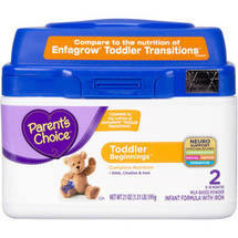 Parent's Choice Toddler Beginnings Tub Powder Formula