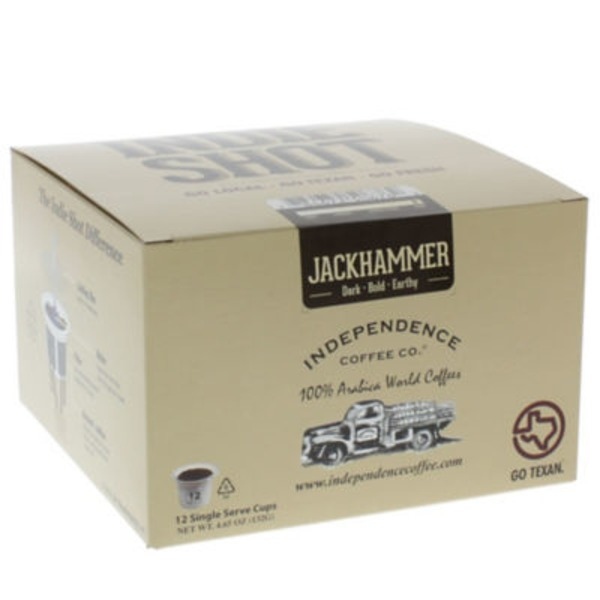 Independence Coffee Co Indie Shot Jackhammer Single Serve Cup Coffee