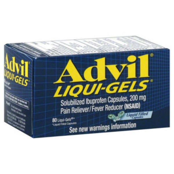 Advil Liqui-Gels Solubilized Liquid Filled Capsules Pain Reliever/Fever Reducer