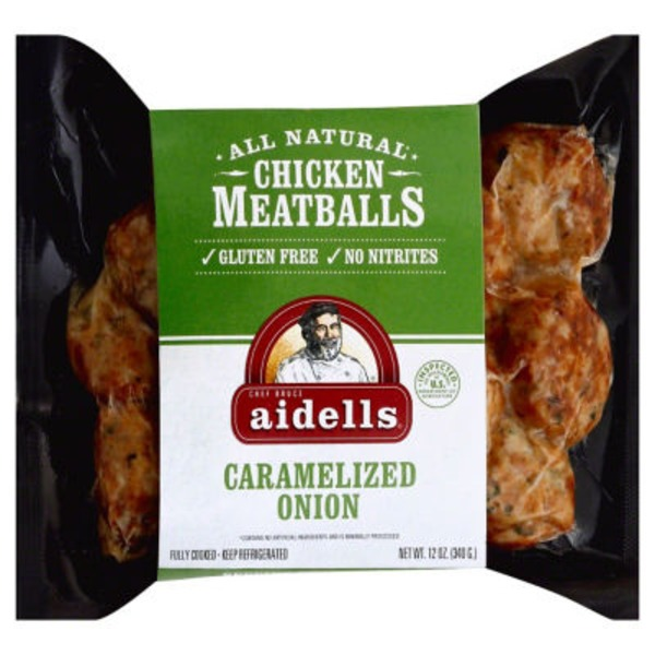 Aidell's Chicken Meatballs Caramelized Onion