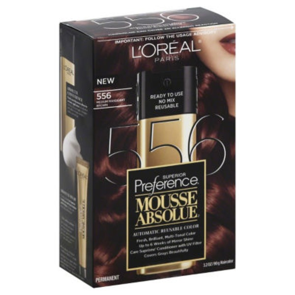 Superior Preference Mousse Absolue Medium Mahogany Brown 556 Hair Color