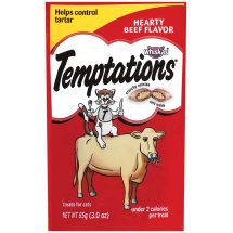 TEMPTATIONS Classic Treats for Cats Hearty Beef Flavor 3 Ounces