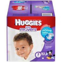 HUGGIES Little Movers Diapers, Size 3, 92 Diapers