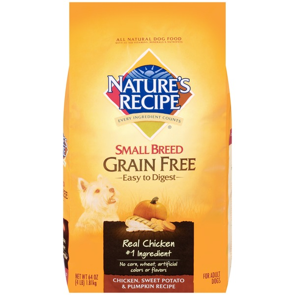 Nature's Recipe Small Breed Grain Free Easy to Digest Chicken Sweet Potato & Pumpkin Recipe Dog Food