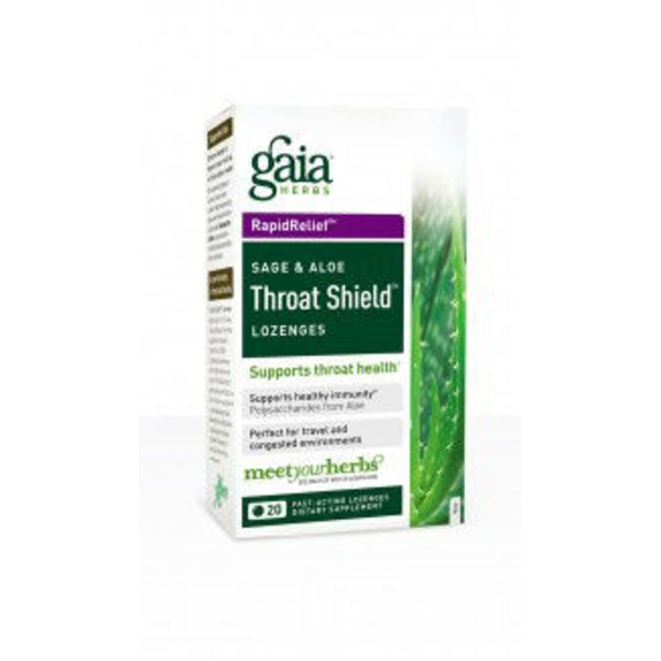 Gaia Herbs Sage & Aloe Throat Shield Lozenges