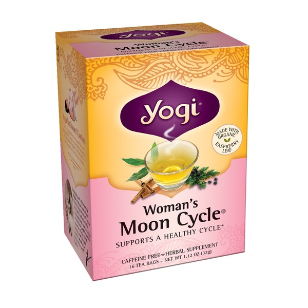 Yogi Women's Moon Cycle Tea, Caffeine Free