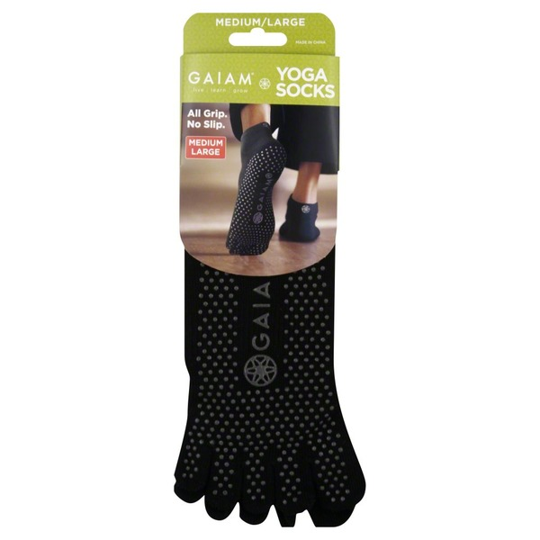 Gaiam Socks, Yoga, Medium/Large