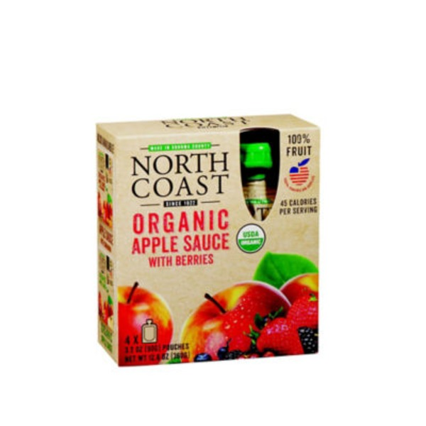 North Coast Apple Sauce With Berries Pouches