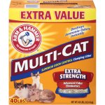 Arm & Hammer Multi-Cat Clumping Litter Extra Strength Fresh Scent, 40 Pound Box