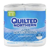 Quilted Northern Ultra Soft & Strong with Cleanstretch Unscented Bathroom Tissue - 4 CT