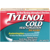 Tylenol® Cold + Head Congestion Severe Caplets