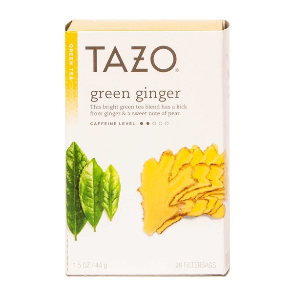 Tazo Tea Green Tea Green Ginger Tea Bags