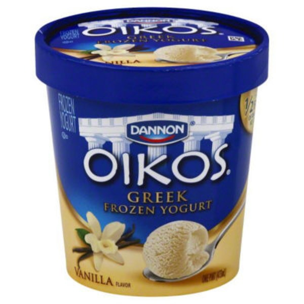 Dannon Oikos Frozen Yogurt Vanilla Greek Frozen Yogurt