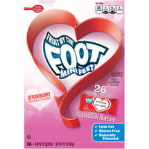 Betty Crocker Fruit by the Foot Mini Feet Strawberry Fruit Flavored Snacks
