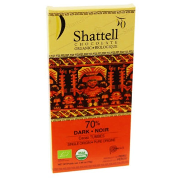 Shattell Chocolate Dark Chocolate 70% Cocoa Tumbes