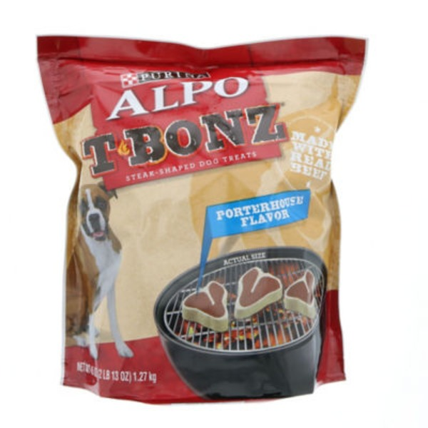 Alpo Treats T-Bonz Porterhouse Flavor Steak-Shaped Dog Treats