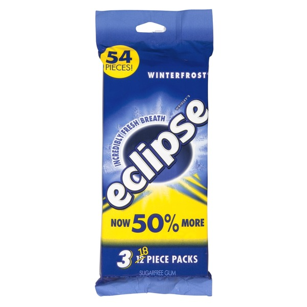 Eclipse Sugarfree Gum Winterfrost - 3 PK