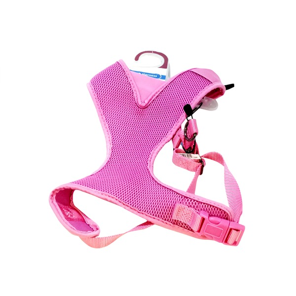 Petco Adjustable Mesh Harness For Dogs In Pink
