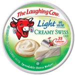 The Laughing Cow Light Swiss Spreadable Cheese Wedges, 8 ct