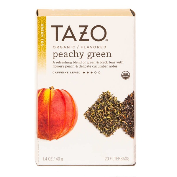 Tazo Tea Green Tea Organic Peachy Green Tea Bags