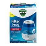 Vicks Filter-Free Cool Mist Humidifier, V4600, White