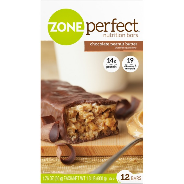 Zone Perfect Chocolate Peanut Butter Nutrition Bars