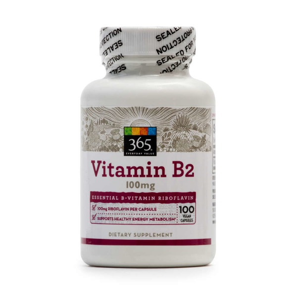 365 Vitamin B2 100 mg Dietary Supplement