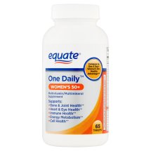 Equate one daily women's 50 multivitamin/multimineral supplement tablets, 65 ct
