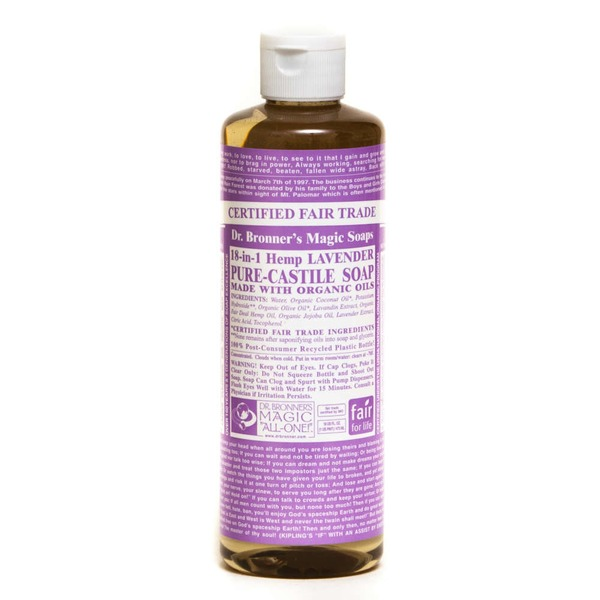 Dr. Bronner's Magic Soaps Lavender Pure Castile Soap
