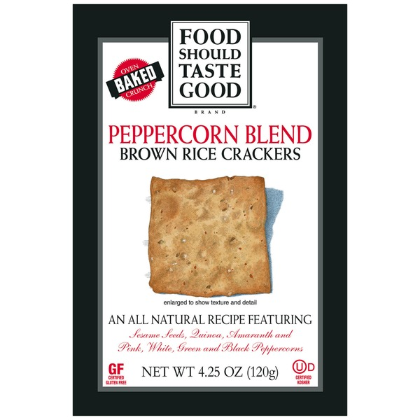 Food Should Taste Good Peppercorn Blend Brown Rice Crackers