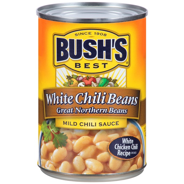 Bush's Best Great Northern Beans in Chili Sauce Mild Chili Beans