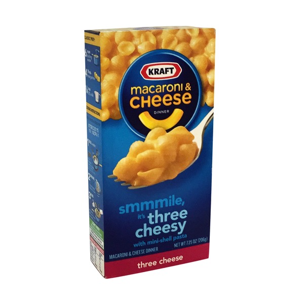 Kraft Dinners Three Cheese Macaroni & Cheese