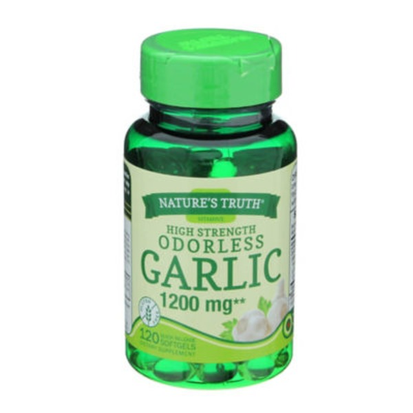 Nature's Truth Organic High Strength Odorless Garlic 1200 MG - 120 CT