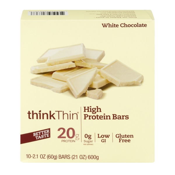 thinkThin HIgh Protein Bar White Chocolate - 10 CT