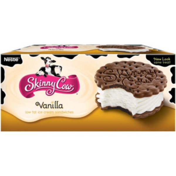 Skinny Cow Vanilla Low Fat Ice Cream Sandwiches