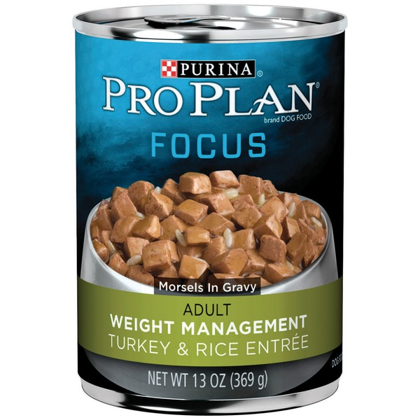 Pro Plan Dog Wet Focus Adult Weight Management Turkey & Rice Entree Morsels in Gravy Dog Food