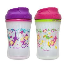 Gerber Graduates Advance Developmental Insulated Sippy Cup, 9-Ounce, 2 Pack