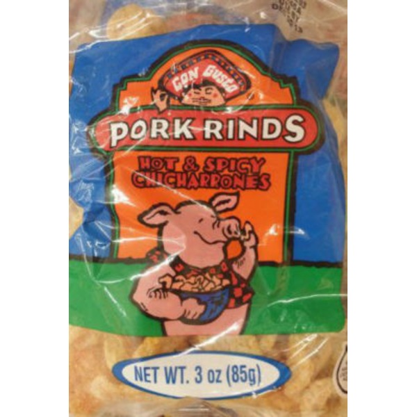 Con Gusto Pork Rinds Hot & Spicy Chicharrones