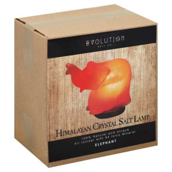 Evolution Salt Elephant Ionizer Himalayan Crystal Salt Lamp