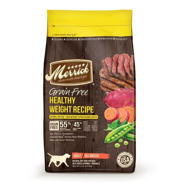 Merrick Grain Free Healthy Weight Recipe Dog Food 25 Lbs.
